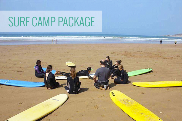 surf camp package in Morocco lessons coaching